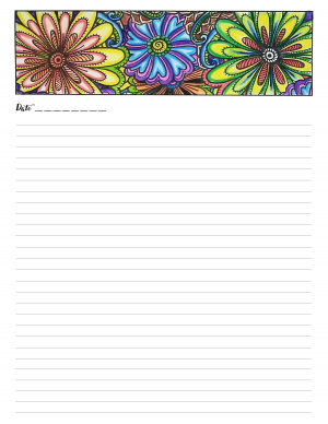 50 Floral Journal Pages with PLR