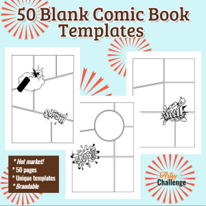 Blank Comics Book Templates (Pack 1)
