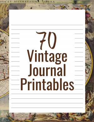 Vintage Journal Printables