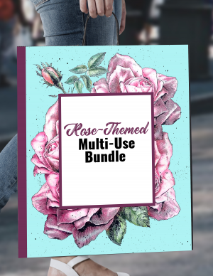 Bundle #3 - Rose-Themed Multi-Use Bundle with PLR