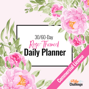 Rose Themed Daily Planner