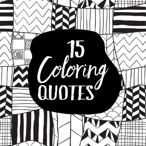 NEW! 16 Coloring Quotes with PLR