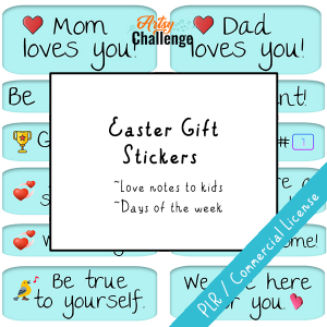 Easter Gift Stickers