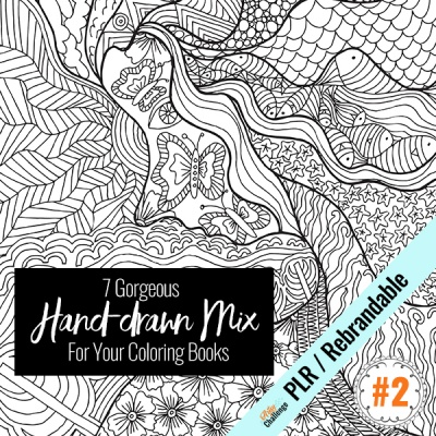 Line Art #2 - Hand-drawn Special Mix with PLR