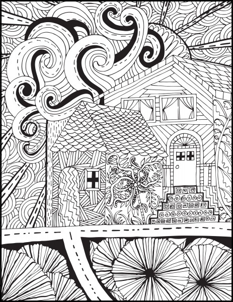Line Art #1 - Hand-drawn Houses with PLR