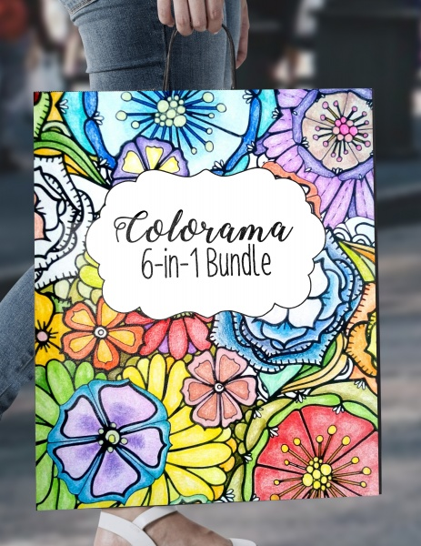 Bundle 1 – 6-in-1 Floral Coloring ($92 Value)